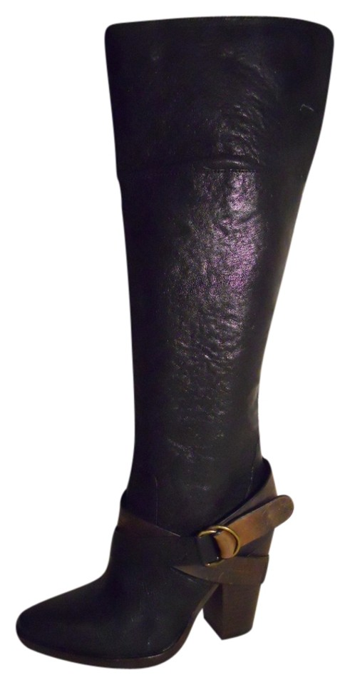 Steve Madden Black Boots/Booties & Brown Rockiie Leather Boots/Booties Black f6ebd3