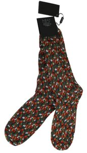 Dolce&Gabbana D71-2 Multicolor Cotton Tomato Garlic Print Socks (XL)