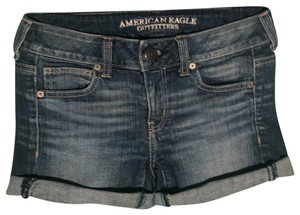 American Eagle Outfitters Cuffed Shorts blue