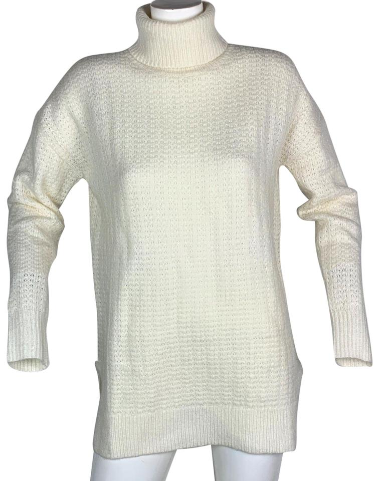 17186bc819d Theory Turtleneck Tunic Oversized Ivory Women S Wool White Sweater ...