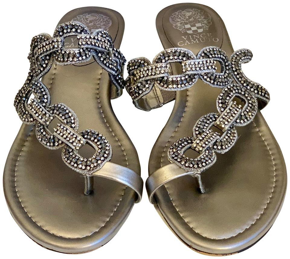b2e39ef1af777d Vince Camuto Silver Metallic Vc-inkaa Sandals Size US 8 Regular (M ...