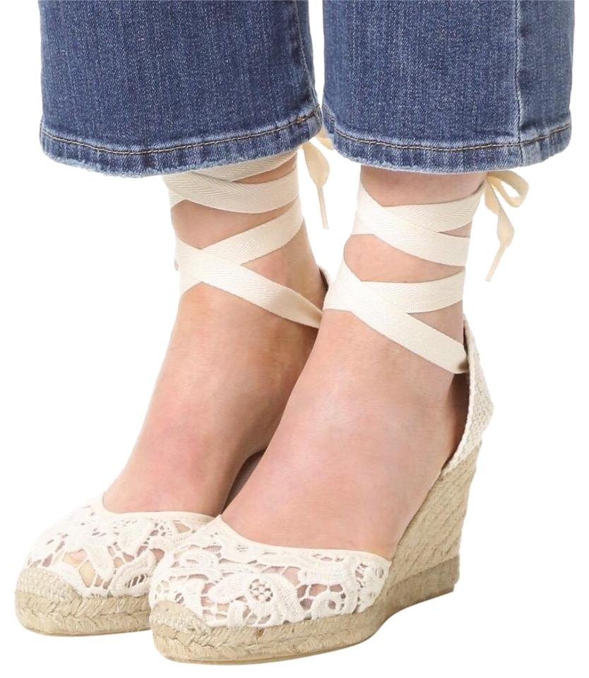 1761e6cd6ffc Soludos Ivory Lace Espadrille Wedges Size US 9 Regular (M
