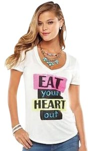 Juicy Couture T Shirt White/Glitter Sequin