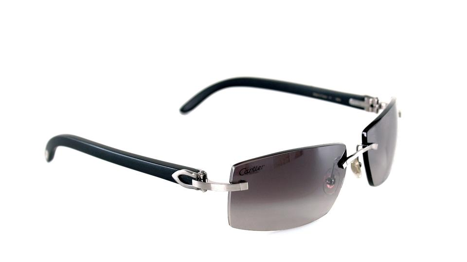 90157009b1f Cartier Black Wood Rafaela Ebony Rimless T8300718 Rare 695 New Sunglasses