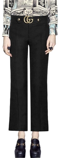 Item - Black Stretch Viscose with Double G Pants Size 4 (S, 27)