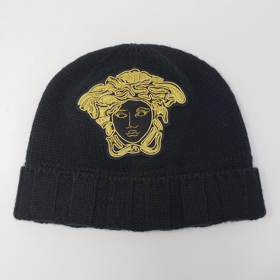 0ad46dc4f53 Versace Black Medusa Embellished Cashmere Beanie M Hat 16% off retail