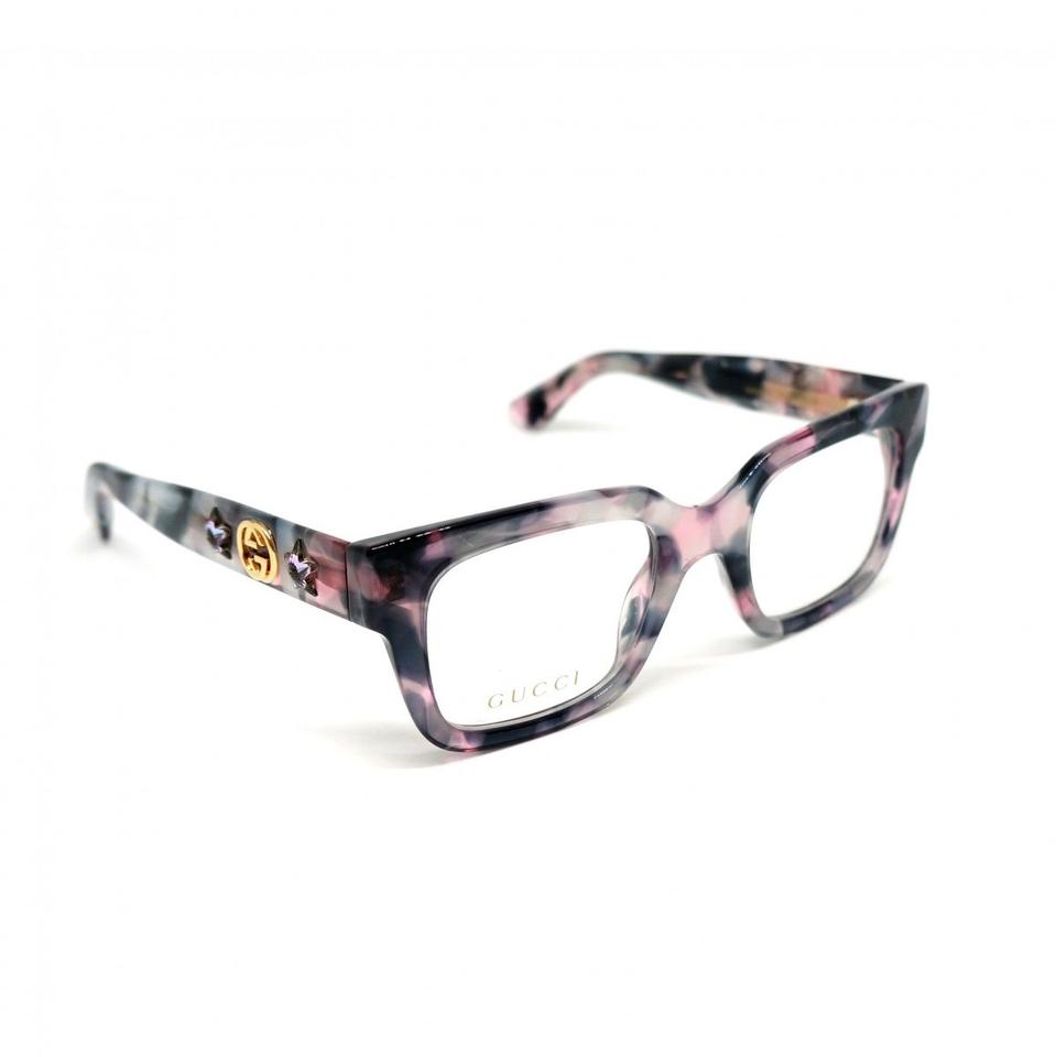 0a1358e17f Gucci Lilac Havana 003 Gg0210o Thick Square Optical with Crystal ...
