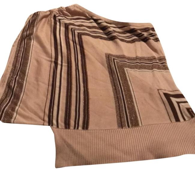 Item - Tan Brown Gold and White Top