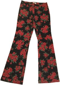 Moschino Floral Flowers Boot Cut Pants