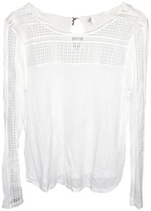 H&M Bohoclothes Boho Freepeople Embroideredtop Top white