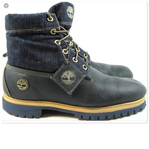 Timberland Blue Denim Boots