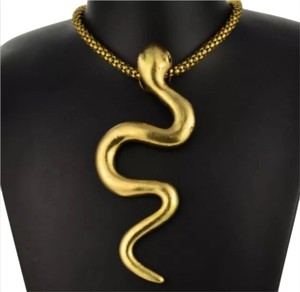 Other Gold Tone Snake Necklace