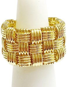 Roberto Coin GORGEOUS!! LIKE NEW!! WITH TAGS!! Roberto Coin 18 Karat Yellow Gold Appassionata 3 Row Ring