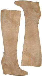 Dolce Vita Suede Wedge Taupe Boots