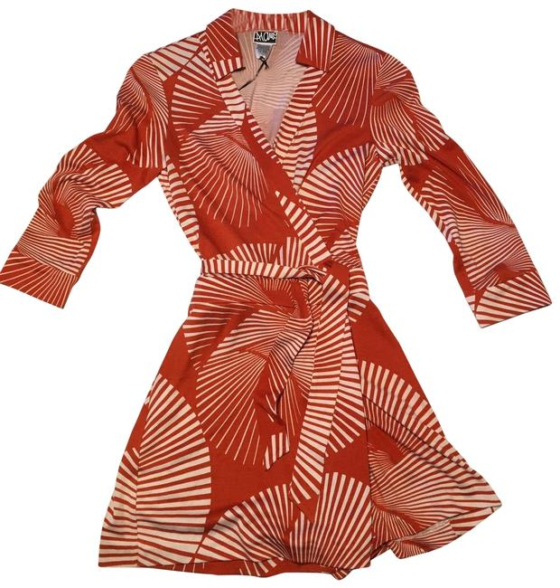 Item - Orange and Cream Print By Romper/Jumpsuit