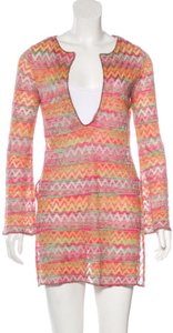 Missoni long sleeve knit coverup