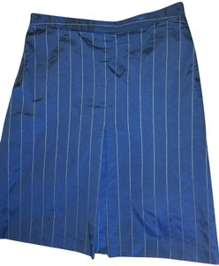 Barneys New York Skirt Navy Pinstripe