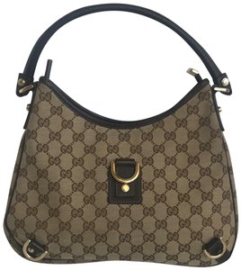 439ed7eb6bc9 Added to Shopping Bag. Gucci Guccissima Canvas Monogram Hobo Bag. Gucci  Abbey Guccissima Gg Shoulder Beige Brown Canvas Leather ...