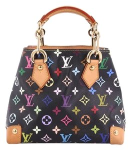Louis Vuitton Audra Canvas Tote in black