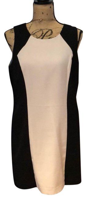 Item - Black & Tan And Mid-length Short Casual Dress Size 12 (L)