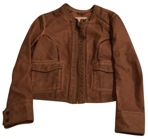 Hei Hei brown Leather Jacket