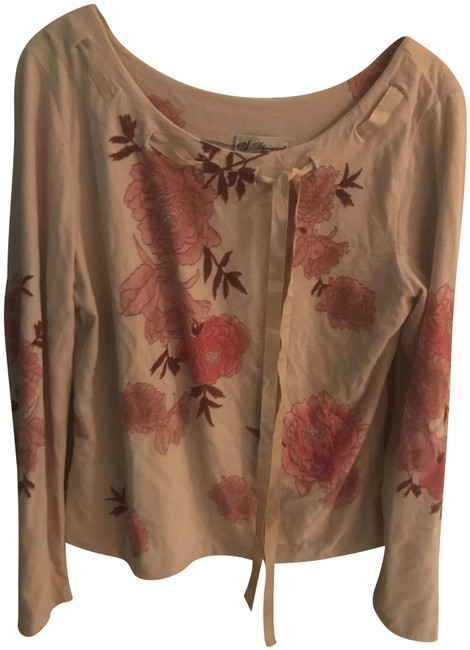 Item - Floral Cream and Pink Sweater