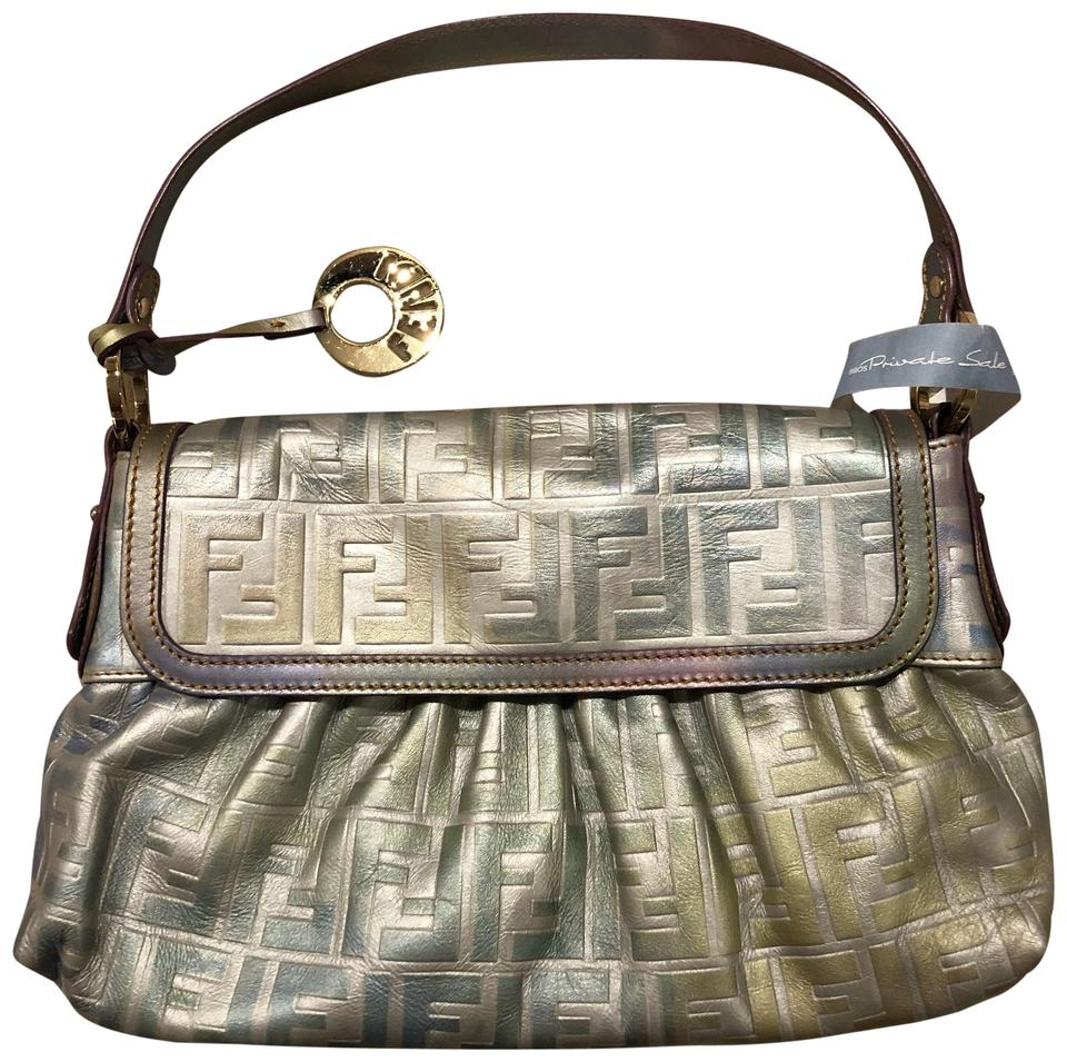 Fendi Zucca Embossed Chef Rainbow Ombre Leather Shoulder Bag - Tradesy c40d70db60784