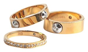 Henri Bendel New Henri Bendel Miss Bendel Stack Rings GOLD Size 6 -3 Separate Bands