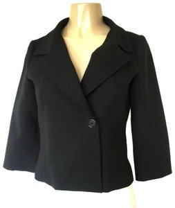 Tufi Duek Blazer Wool 3/4 Sleeve Cropped black Jacket