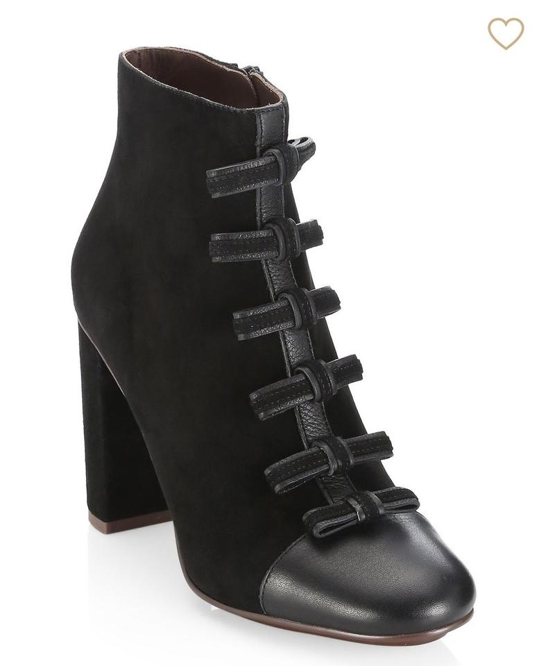 9d104189e4 See by Chloé Black Gisel Bow Ankle Boots/Booties Size EU 37.5 (Approx. US  7.5) Regular (M, B) 49% off retail