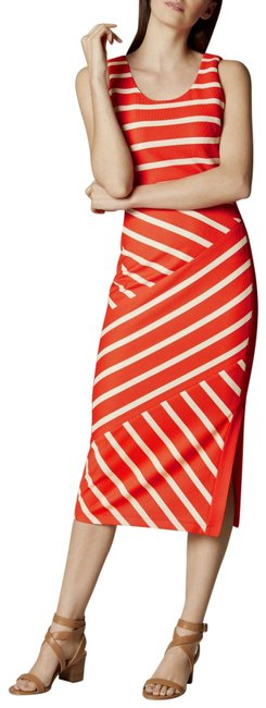Item - Red/Multi Jersey Wide Stripe Long Night Out Dress Size 4 (S)