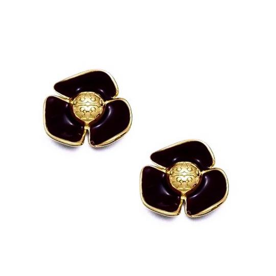 Preload https://img-static.tradesy.com/item/24715037/tory-burch-black-fleur-earrings-0-0-540-540.jpg