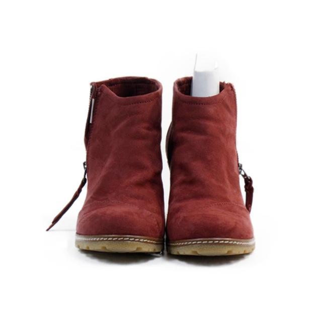 Item - Oxblood Avery Crepe Wedge Boo Boots/Booties Size US 8 Regular (M, B)