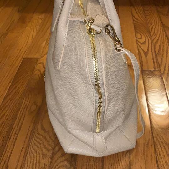 Burberry Leather Grainy Bowling Satchel in nude, beige Image 1
