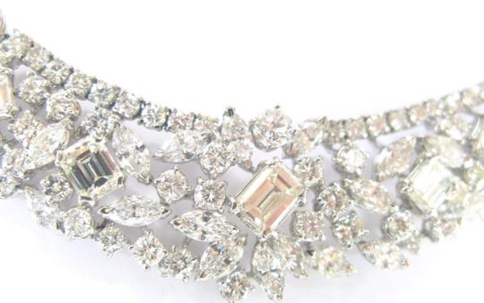 custom NATURAL 18KT Multi Shape Diamond Tennis Graduated Necklace WG Riveria Image 3