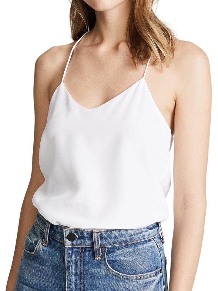 bd68ea590bc7d1 Tibi White Classic Racer Back Camisole Tank Top Cami. Size  4 (S) ...