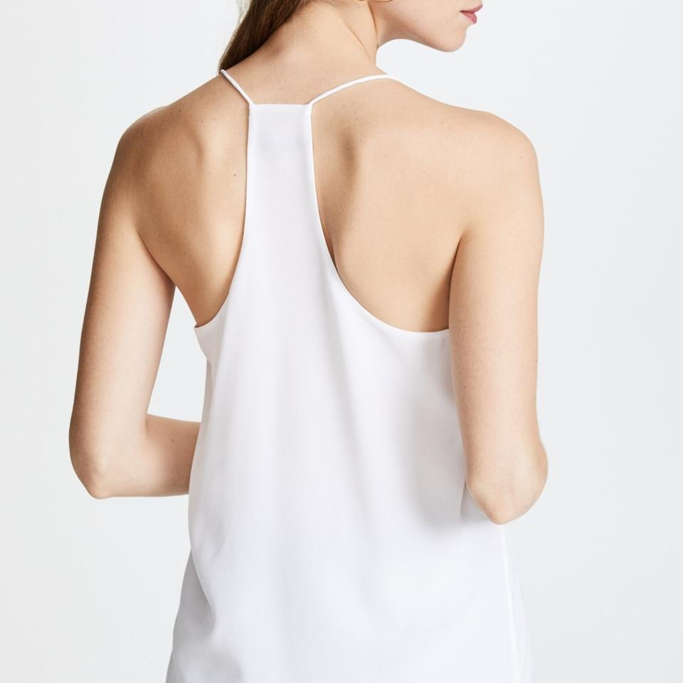 a6445a384918be Tibi White Classic Racer Back Camisole Tank Top Cami Size 4 (S) - Tradesy