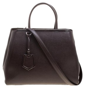 Fendi Leather Dazzling Tote in Brown
