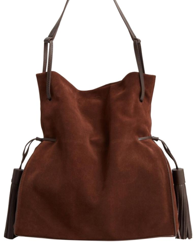 32a44cf67fa7 AllSaints Freedom Slouchy Chocolate Brown Leather Hobo Bag 24% off retail