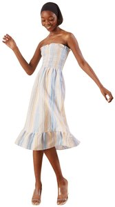 Maxi Dress by Reformation Linen Strapless Striped