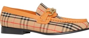 Burberry Check/Yellow Barley Leather Flats