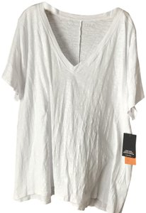 One A New With Tags V-neck Short Sleeves High-low Cotton Tunic
