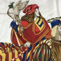 Gucci Gucci 100% Silk Square Scarf Knights with Horse Image 5