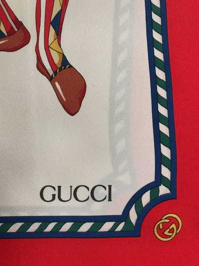 Gucci Gucci 100% Silk Square Scarf Knights with Horse Image 8