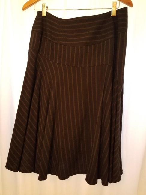 Nanette Lepore Skirt Charcoal Gray with Pinstripe Image 1