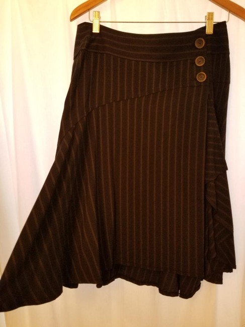 Nanette Lepore Skirt Charcoal Gray with Pinstripe Image 2