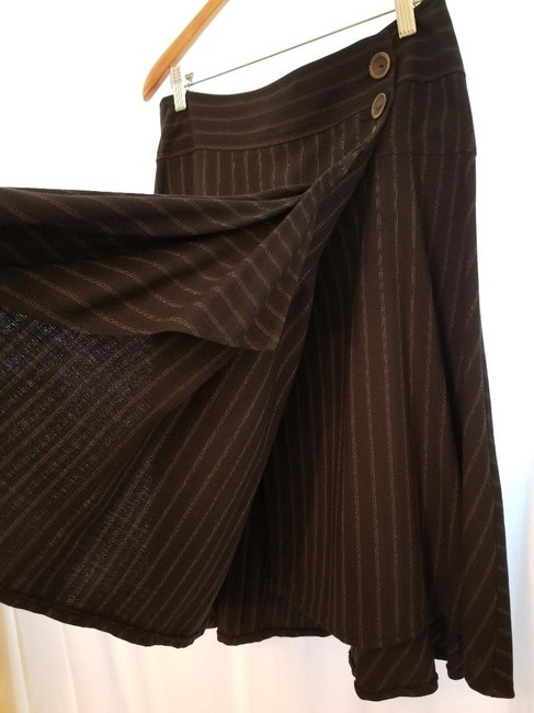 Nanette Lepore Skirt Charcoal Gray with Pinstripe Image 3