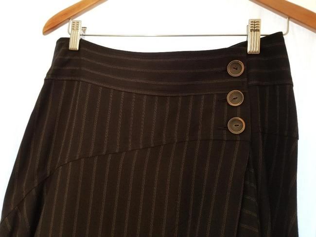 Nanette Lepore Skirt Charcoal Gray with Pinstripe Image 5