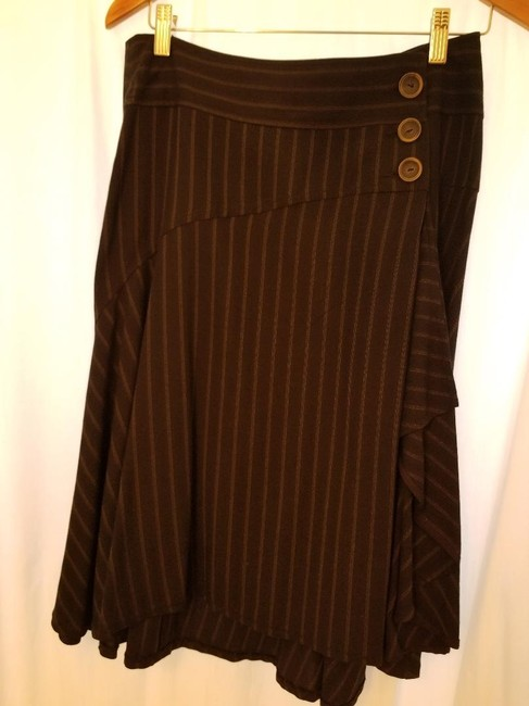 Nanette Lepore Skirt Charcoal Gray with Pinstripe Image 6