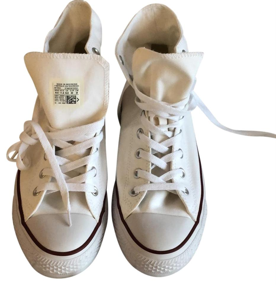 29414538a7ff Converse White Classic High Top Sneakers. Size  US 11.5 Regular (M ...